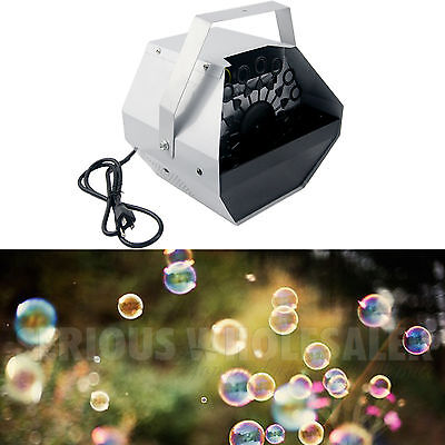 Automatic Deluxe 16 Wand Bubble Maker Machine Auto Blower DJ Party Kids