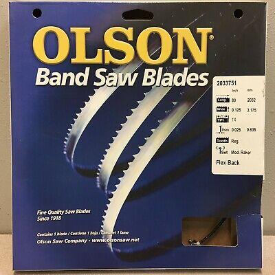 Olson 08580 80 L X 18 W X 0.025 Thick Carbon Steel Band Saw Blade 14 Tpi