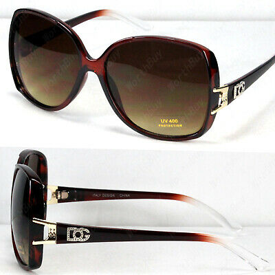 New Womens Square Designer Sunglasses Fashion Shades Wrap Butterfly Brown (Womens Fashion Sunglasses)