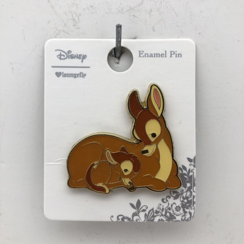 Disney Loungefly Bambi and Mother Cuddle Mom Enamel Trading Pin