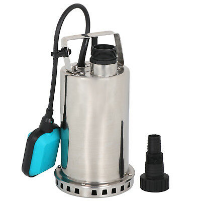 1HP Stainless Steel Submersible Pump 3000GPH Sump Dirty Clean Water Pump 750W Home & Garden