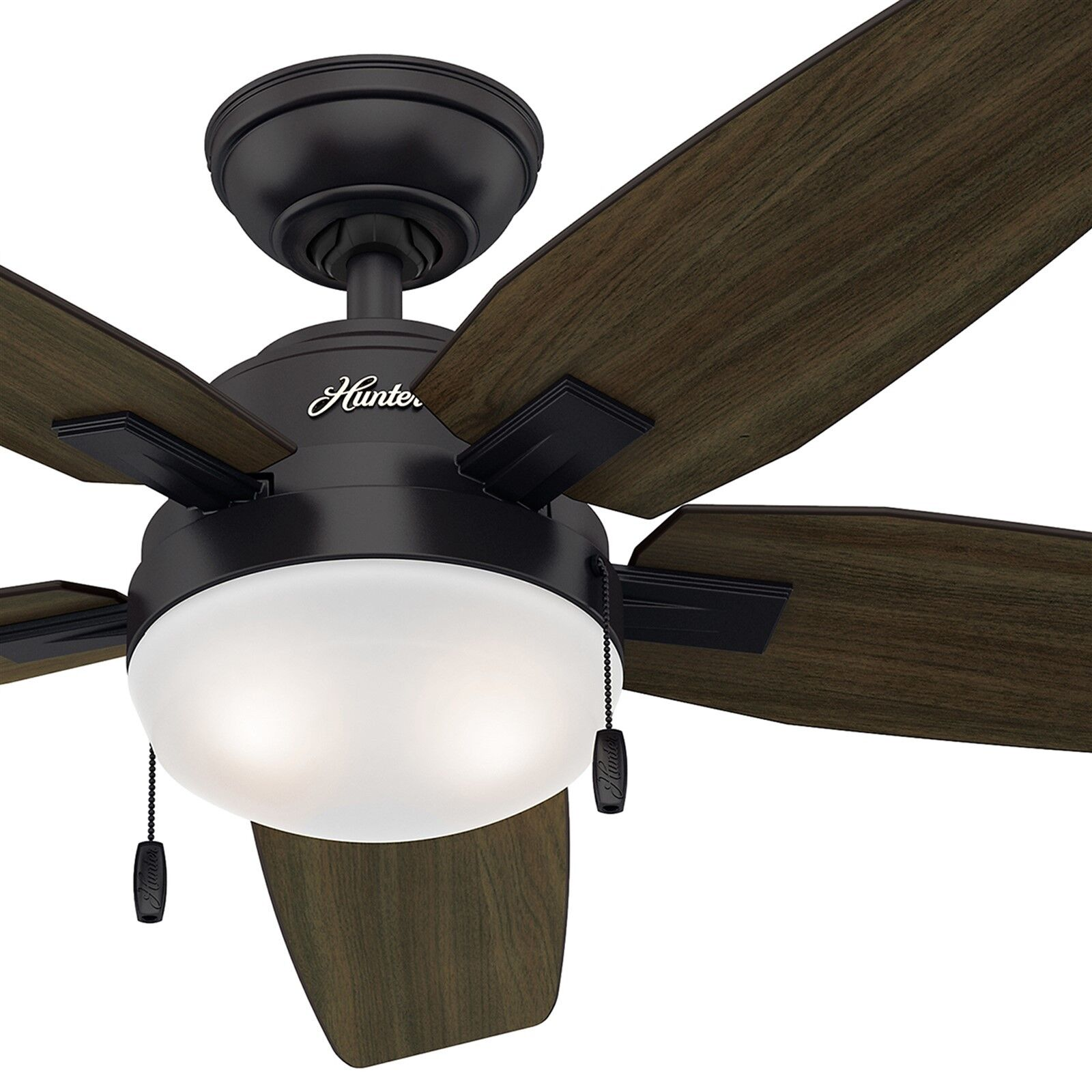 46 Quot Hunter Noble Bronze Contemporary Ceiling Fan Cfl Light Kit Included Ebay