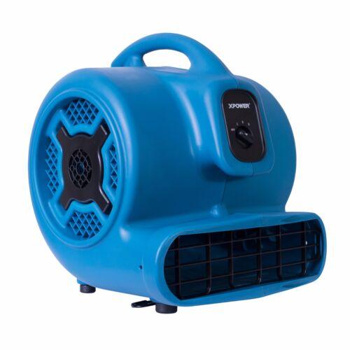 XPOWER P-830 1 HP 3600 CFM Air Mover Commercial Carpet Dryer Floor Fan Blower