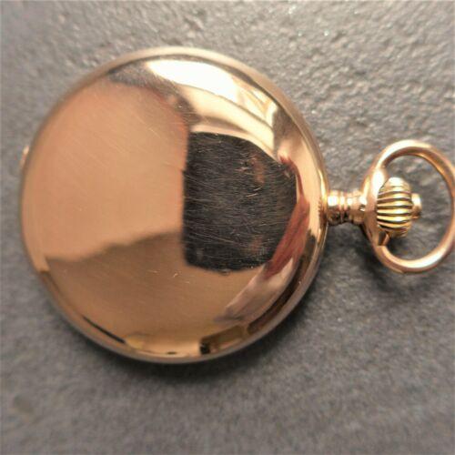 gute HERREN TASCHENUHR, Gold 0,585, Savonnette,
