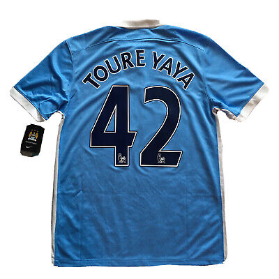 2015/16 Manchester City Home Jersey  #42 Toure Yaya Medium Nike Soccer NEW image
