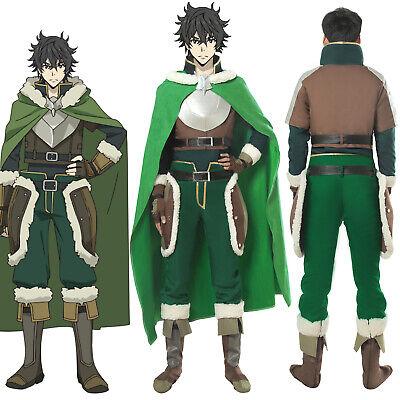 The Rising of The Shield Hero Naofumi Iwatani Cosplay Costume Cloak Boots (The Shield Costume)