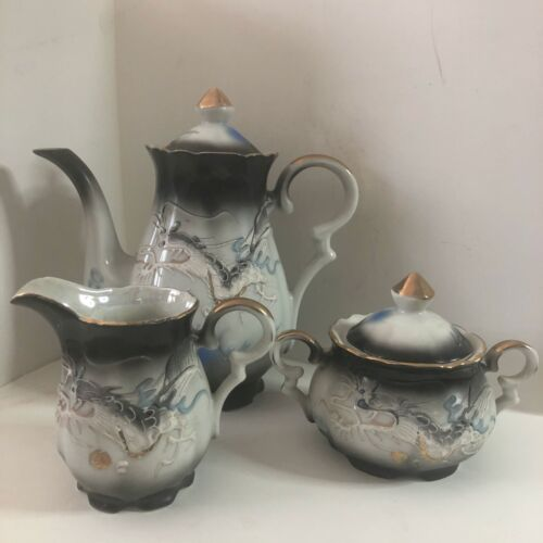 Kutani Moriage Dragon Tea Set - 15 pieces