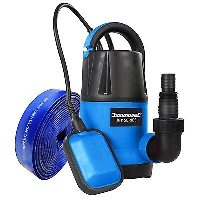 Silverline Submersible Water Pump 250w - 5m Hose Fast Flow 5000 ltr/hr Hot Tub  ()