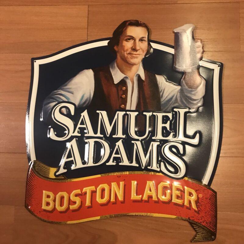 Sam Adams Boston Lager Tacker Sign, Craft Brewery Metal Tin Beer Memorabilia