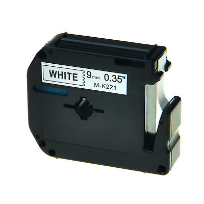 Black On White 9mm Tape For Brother P-touch Pt-90 Mk221 M-k221 Label Maker 1pk