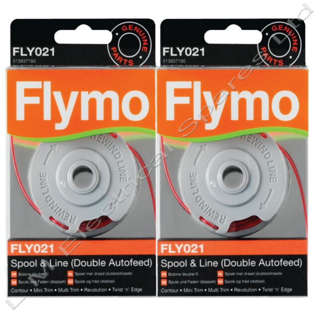 genuine flymo fly021 contour 500xt 500 xt double autofeed. Black Bedroom Furniture Sets. Home Design Ideas