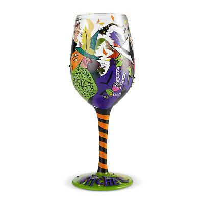 Lolita Halloween Wine Glasses (LOLITA Love My Wine Cheers Witches)
