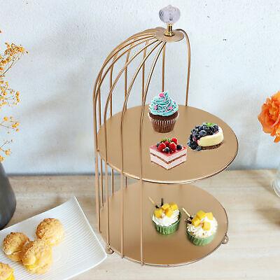 Metal Cupcake Stand Cake Dessert Makeup Organizer Wedding Party Display Holder