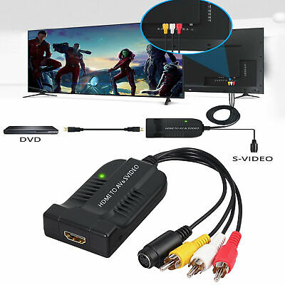 Male AV CVBS S-Video 3RCA to HDMI Converter HDMI Adapter 1080P with Micro Cable