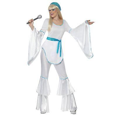 70's Agnetha Super Trooper Waterloo Womens Ladies Fancy Dress Costume (70s Ladies)