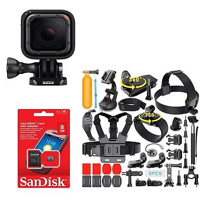 GoPro HERO5 Session HD Action Camera with Lots of Sports Accessories. CHDRB-501