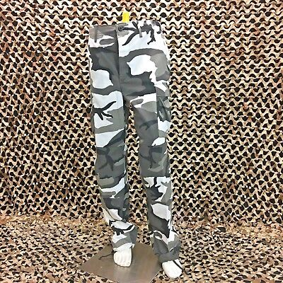 *USED* Propper  BDU Trouser Button Fly Pants - Black/White Camo - Small Long ()
