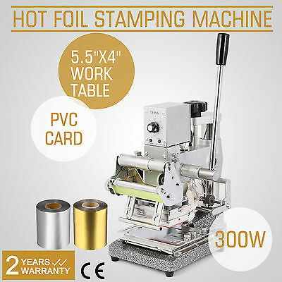 2 FOIL PAPER+STAMPING MACHINE HOT FOIL CRAFT PRINTING EMBOSSER FREE WARRANTY