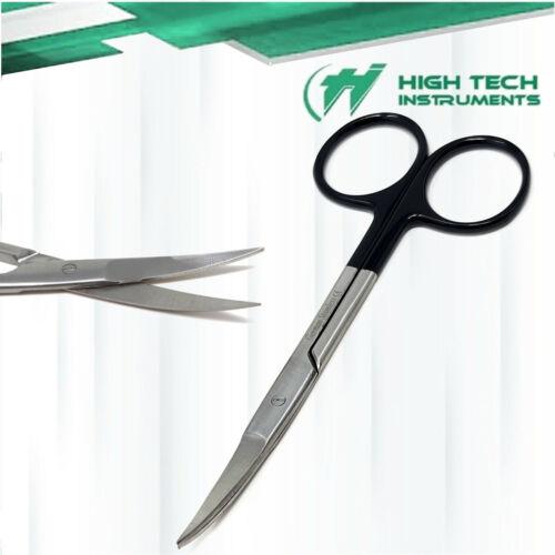 "SuperCut Iris Scissors 4.5"" Curved German Stainless Steel CE"