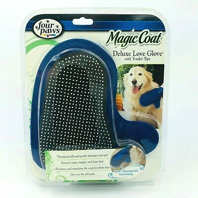 NEW!! DAMAGE BOXES!! Four Paws Magic Coat Deluxe Love Glove With Tender Tips Magic Coat Glove