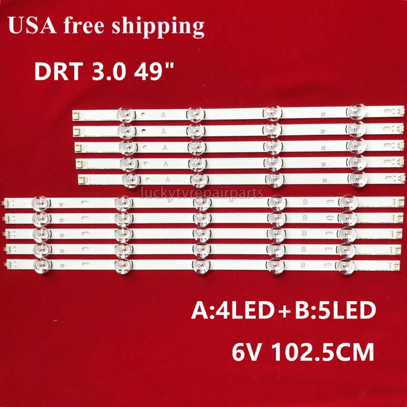 """10PCS LED Strips for LG Innotek DRT 3.0 49""""A/BTV 49LB5550 49LF5500 49LB551"""