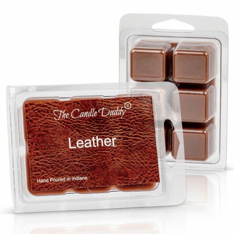 Leather Scented Melt- Maximum Scent Wax Cubes/Melts- 1 Pack -2 Ounces- 6 Cubes