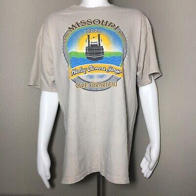 Harley-Davidson Men's Large Tshirt State Missouri Rally 2001 Cape Girardeau Tan for sale  Houston