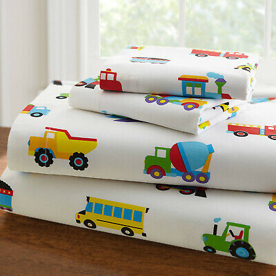 🌟NEW🌟 OLIVE KIDS TRAINS PLANES & TRUCKS 3 PC TODDLER SHEET SET