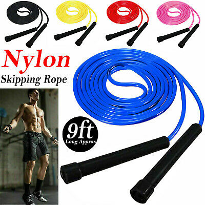 Skipping Rope Nylon Jumping Speed Exercise Handle Boxing Fitness Training Adults