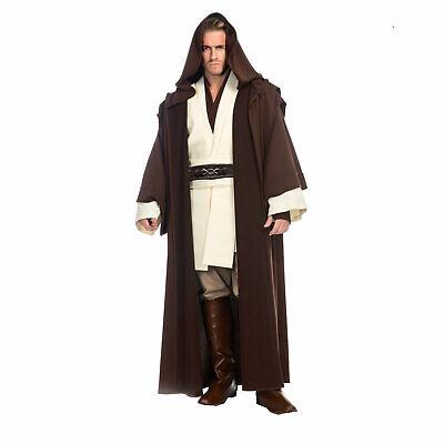 Deluxe STAR WARS Men's OBI WAN KENOBI Return of Jedi FULL Cosplay Costume XS-XL (Obi Wan Kenobi Costumes)