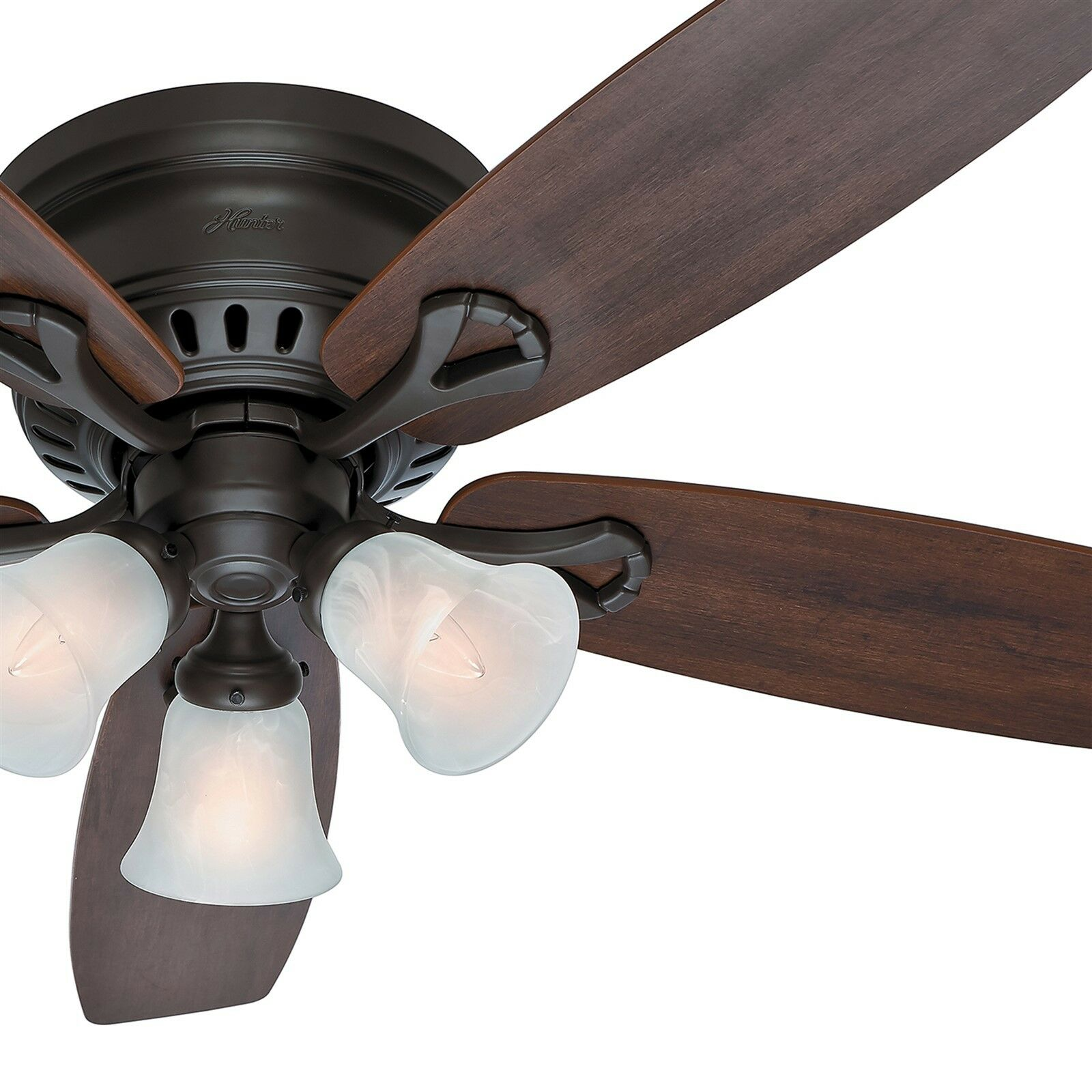 Emerson aira eco 72 inch oil rubbed bronze modern ceiling fan free - 52 Hunter New Bronze Low Profile Ceiling Fan Swirled Marble Light Kit