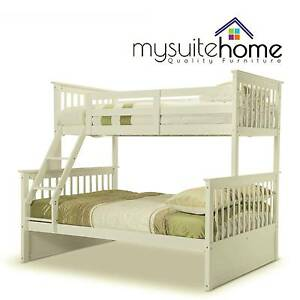 Sydney Emma White Kid Single on Double Solid Timber Bunk Bed Chatswood Willoughby Area Preview