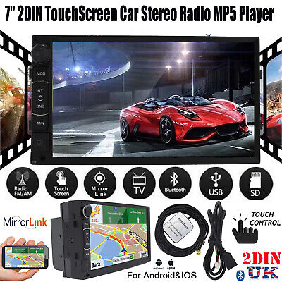 2DIN 7'' Car Stereo USB MP5 Player Mirror Link Navigation For Wifi iOS & Android