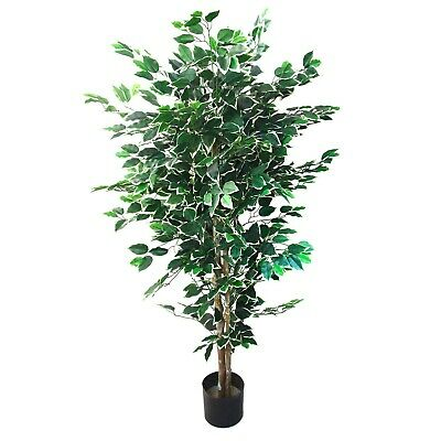 5 Foot Indoor Outdoor Fake Ficus Tree with Over 1000 Leaves Artificial Plant Indoor Plants Ficus