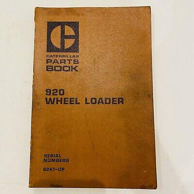 Cat Caterpillar 920 Wheel Loader Parts Manual Book Catalog 62k1 - Up