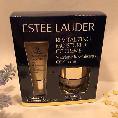 Estee Lauder Revitalizing Supreme Global Anti-Aging CC Creme Pflegeset, Neu