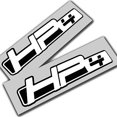 BMW HP4  S1000 RR   Motorcycle decals graphics stickers x 2 white on black