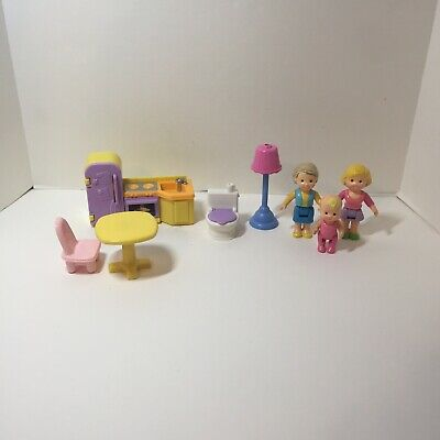 8 Pcs Fisher Price My First Dollhouse Furniture Figures Lot Mother Grandmother