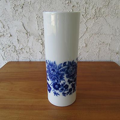 "Alboth & Kaiser AK Blue Floral Vase Chrysanthemum Rose Alka Kunst Bavaria 8.5"" for sale  New Braunfels"