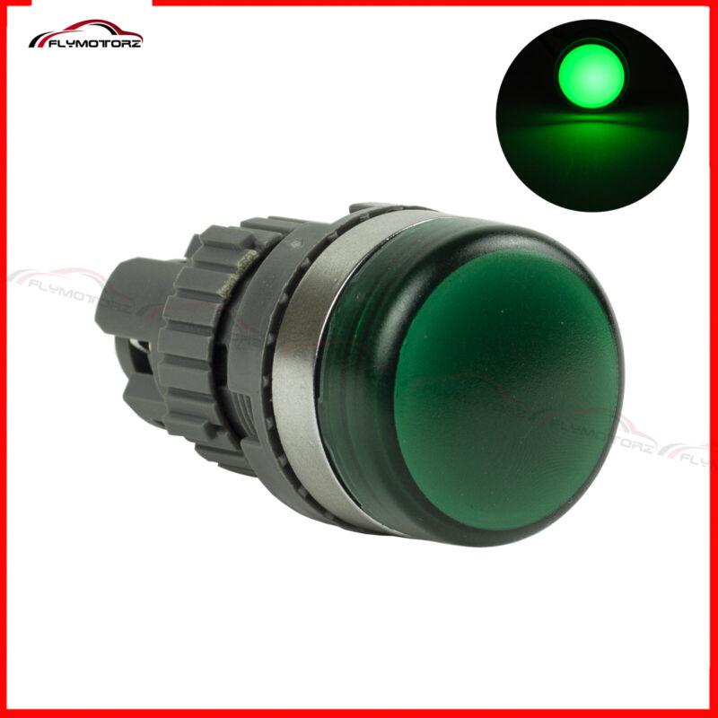 22mm Green LED 110V 120V Pilot Panel Indicator Light Lamp For Control Panel Box