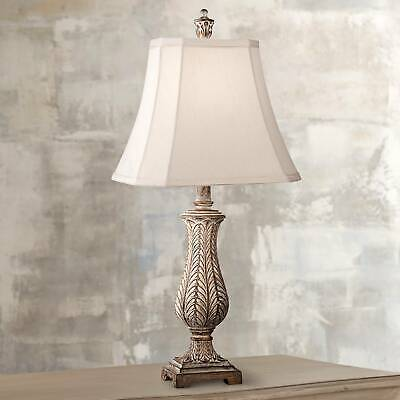 Cottage Table Lamp Antique Gold Leaf Petite Vase for Living
