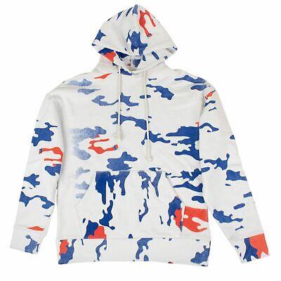 NWT 424 White/Blue/Red Camo Hoodie Sweatshirt Size S $295