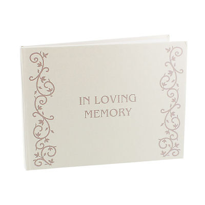 In Loving Memory Remembrance Funeral Book Of Condolence Bereavement Guest Photo