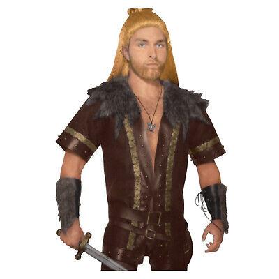 Men's Dragon Viking Nordic Hiccup Faux Fur Coat Halloween Costume Cosplay](Halloween Viking Costume)