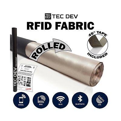RF Faraday Fabric, EMF Shield, Blocker, Faraday Cage, RFID, Conductive Shield...