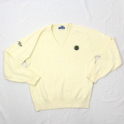 Vintage Carmel Vêtements de Sport Col V Pull TAILLE L Ivoire Pro-Am Golf