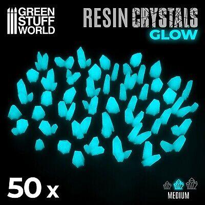Cristales de Resina AZUL TURQUESA GLOW Medianos - Textura Escenografia Warhammer