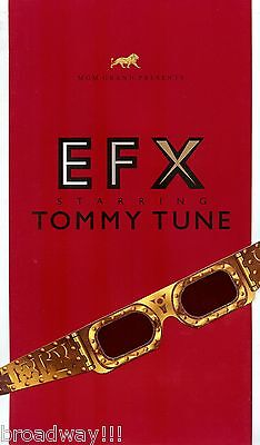 "Tommy Tune ""EFX"" Las Vegas, Nevada 1999 MGM Grand Program and 3-D Glasses"