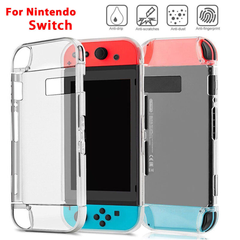 For Nintendo Switch Joy-Con Clear Hard Case Cover Anti-Scratch Protective Shell