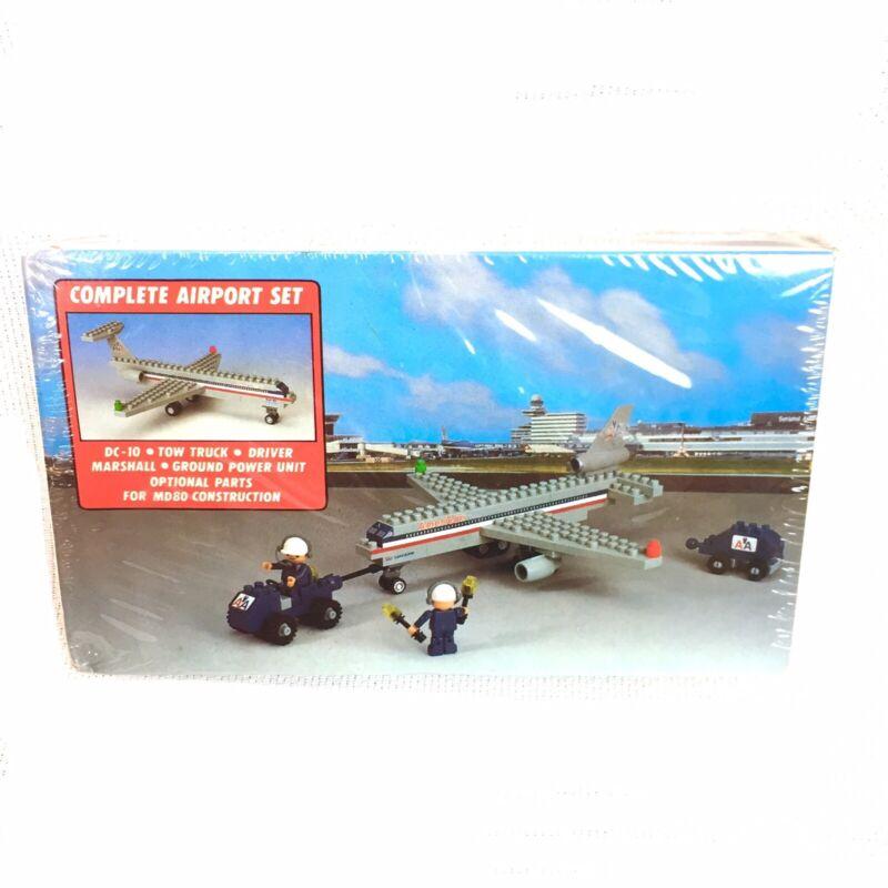 Vtg 1980s Kawada American Airlines AA Aero Kit DC-10 Airplane Building Toy Set